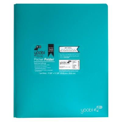 2 Pocket Plastic Folder with Prong Fasteners - Yoobi™