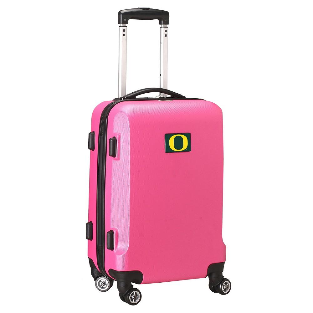 NCAA Oregon Ducks Pink Hardcase Spinner Carry On Suitcase