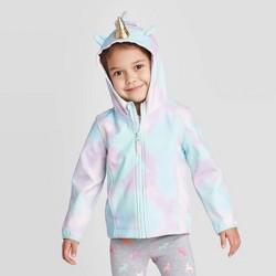 Toddler Girls' Unicorn Softshell Jacket - Cat & Jack™ Blue/Pink