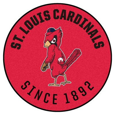 """MLB St. Louis Cardinals 27""""x27"""" 1950 Retro Collection Roundel Rug"""