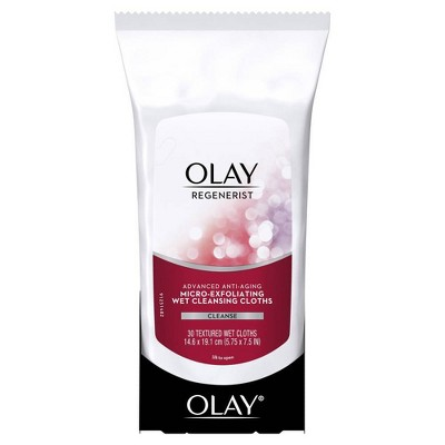 Olay Regenerist Micro-Exfoliating Wet Facial Cleansing Wipes 30 ct