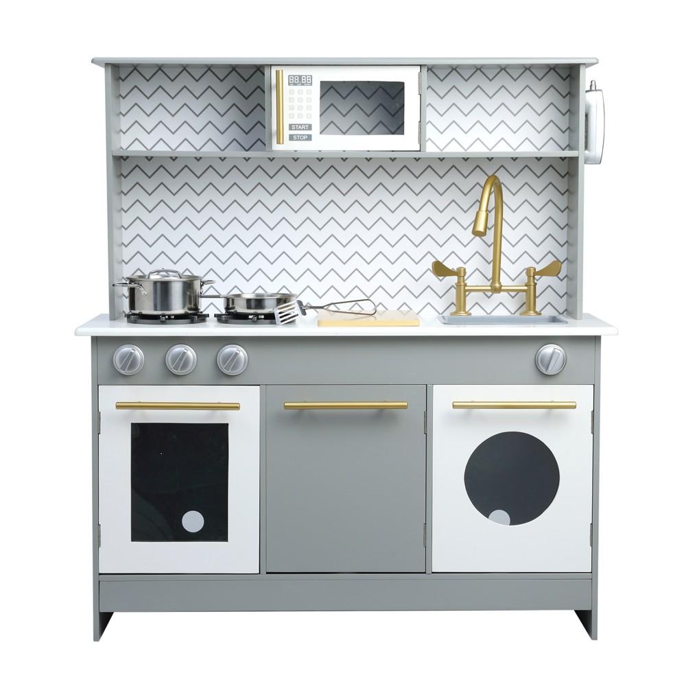Teamson Kids Bermingham Big Play Kitchen, Grey & White