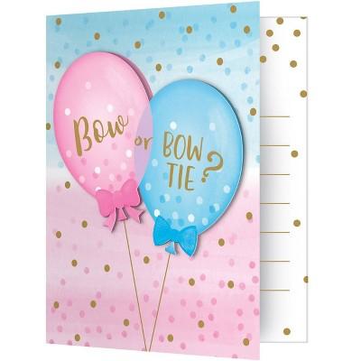8ct Gender Reveal Balloon Invitation