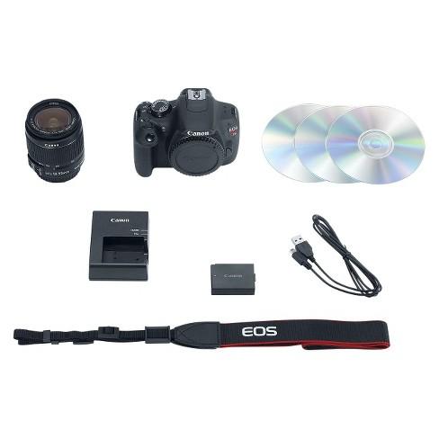 Canon EOS Rebel T5 II Kit 18MP Digital SLR Camera with EF-S 18-55mm Lens -  Black