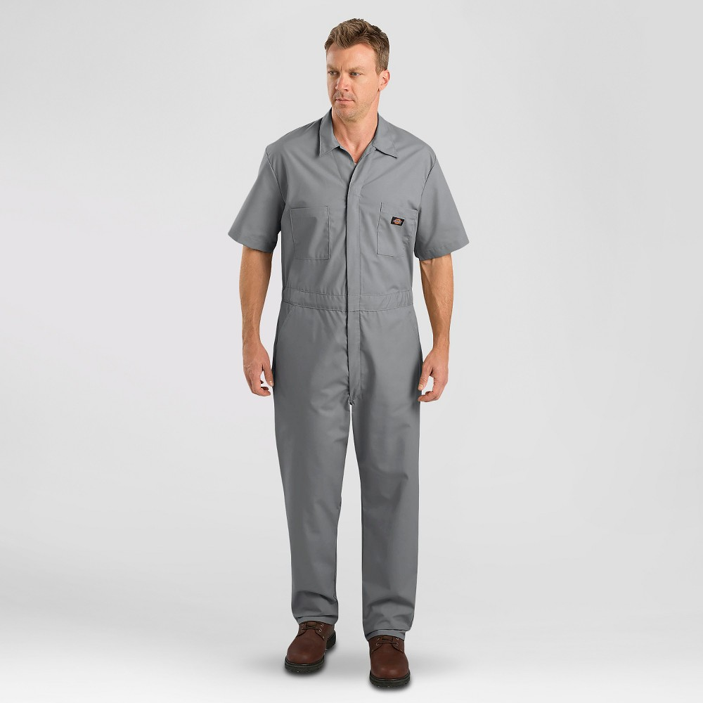 Dickies Men's Big & Tall Short Sleeve Coverall- Gray 5XL