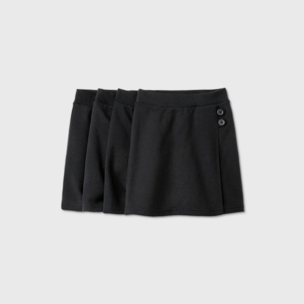 Girls 39 4pk Stretch Uniform Knit Skorts Cat 38 Jack 8482 Black Xl