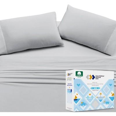 Cloud-Weight Silky Soft 500 Sateen | 100% Cotton Sheets Set | Cooling & Deep Pocket Bed Sheets by California Design Den