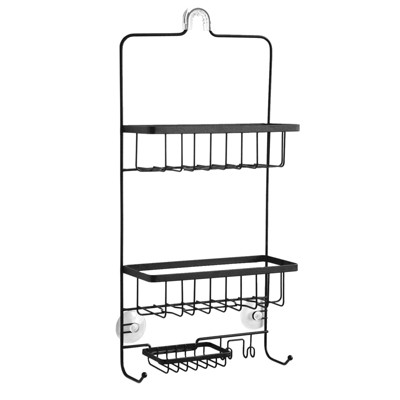 Steel Shower Caddy Matte Black - Made By Design™