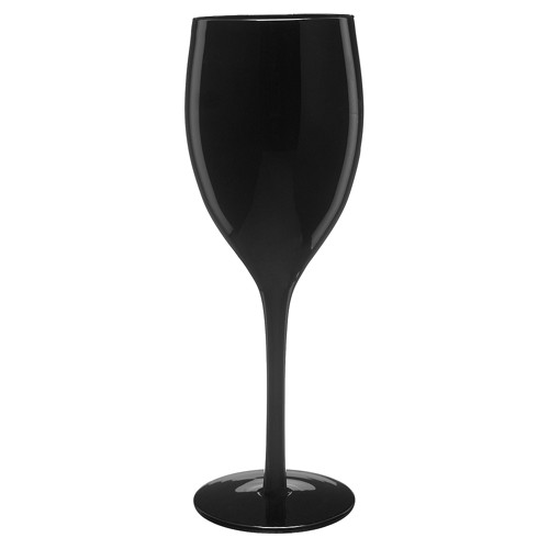 Artland 9oz 4pk Wine Glasses Black