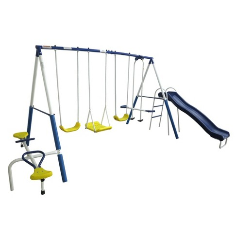Xdp Recreation Playground Galore Outdoor Backyard Kids Play Swing Set With Slide - image 1 of 6