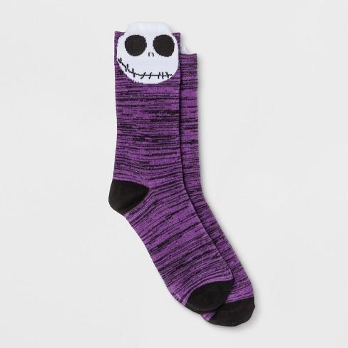 womens disney nightmare before christmas crew casual socks purple 9 11 - Christmas Socks Target