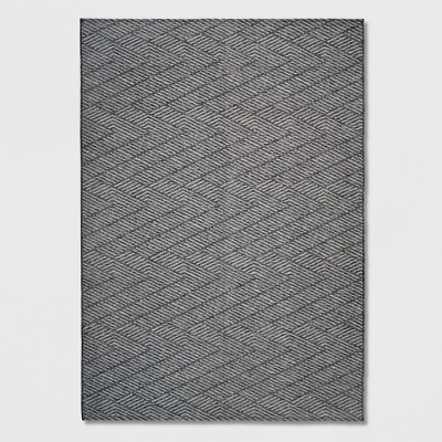 7' x 10' Seagull Stripe Outdoor Rug Gray - Project 62™