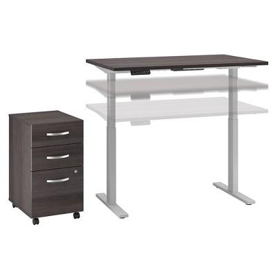 Bush Business Furniture Height Adjustable Desk w/Storage