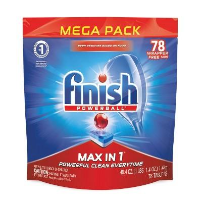 Finish Max-in-1 Dishwasher Detergent Tabs