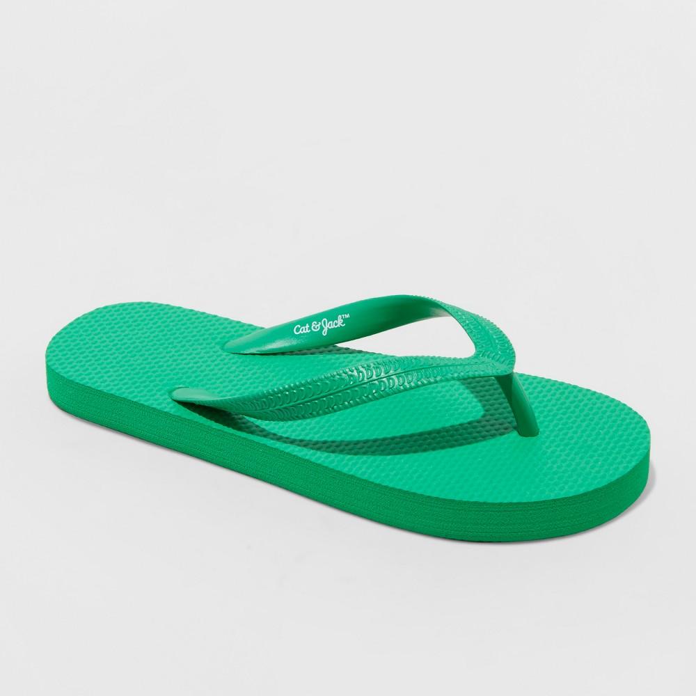 Image of Boys' Wayne Flip Flop Sandals - Cat & Jack Green L, Size: Large