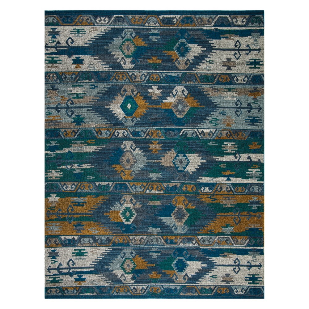 8'X10' Tribal Design Area Rug Blue/Gold - Safavieh