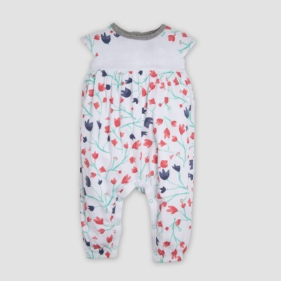 Burt's Bees Baby® Baby Girls' Floral Organic Cotton Coveralls - Pink 3-6M