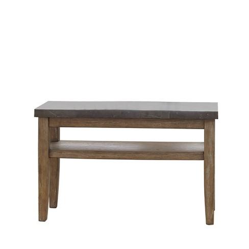 Debby Bluestone Sofa Table Driftwood Steve Silver