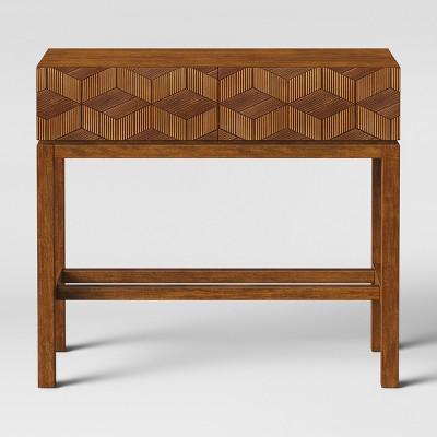 Ordinaire Tachuri Geometric Front Console Table Brown   Opalhouse™