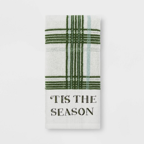 Tis the Season Plaid Hand Towel Green - Threshold™ - image 1 of 1