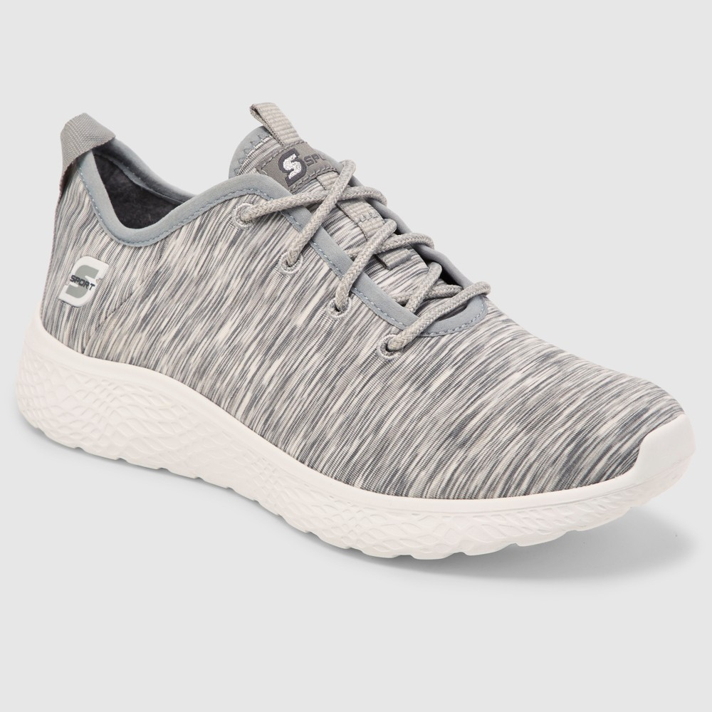 Women's S Sport by Skechers Shia Spacedye Heathered Sneakers - Gray 10