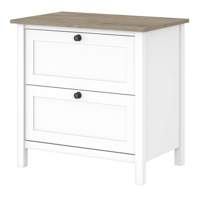 2 Drawer Mayfield File Cabinet Shiplap Gray/Pure White - Bush Furniture