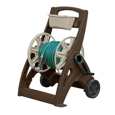Suncast 225 Foot Capacity Durable Hosemobile Pro Garden Hose Reel Cart, Mocha