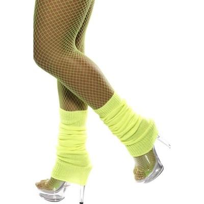 Smiffys 80's Neon Yellow Leg Warmers Costume Accessory