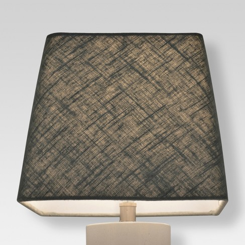 Small Square Lamp Shade Blue Linen Threshold