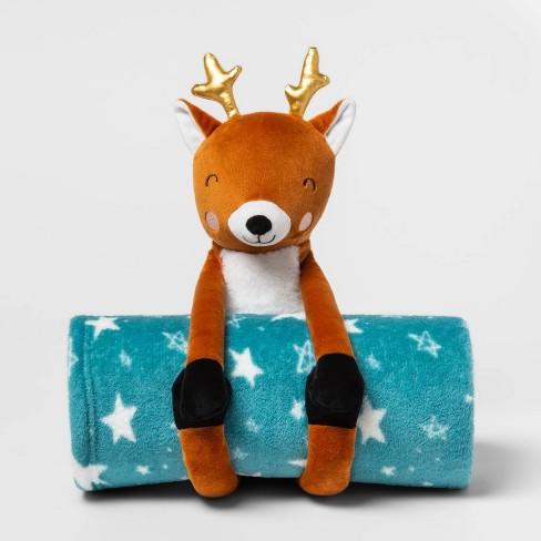 """50""""x60"""" Deer Throw Blanket Blue - Pillowfort™ - image 1 of 2"""