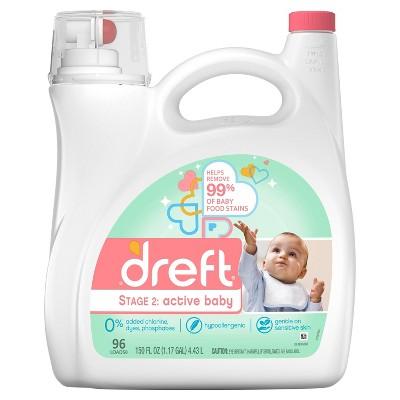 Dreft Active Baby Liquid Laundry Detergent