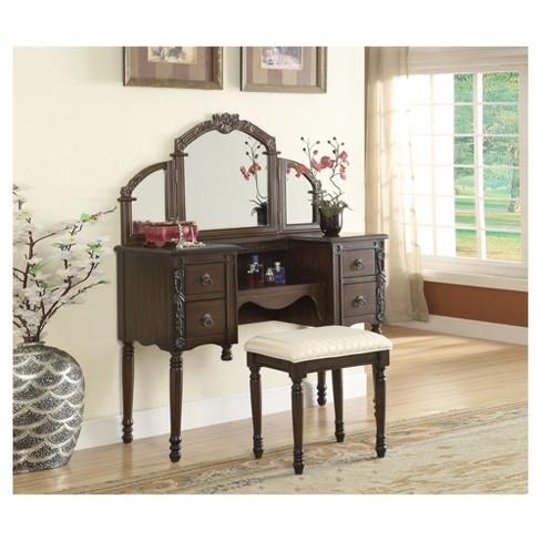 Acme Furniture Vanity Set Oak Target