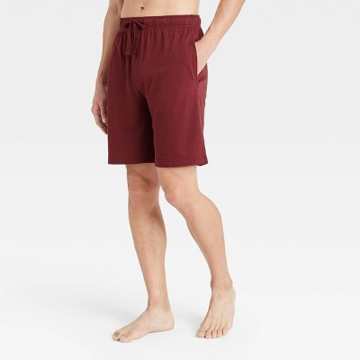 "Men's 9"" Regular Fit Knit Pajama Shorts - Goodfellow & Co™ Royal Burgundy"