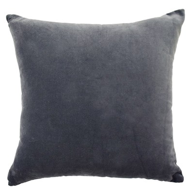 Normandy Faux Velvet Throw Pillow Gray - Beautyrest