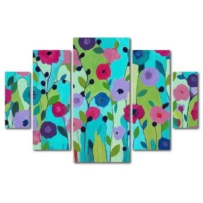 5pc Spring Returns by Carrie Schmitt - Trademark Fine Art