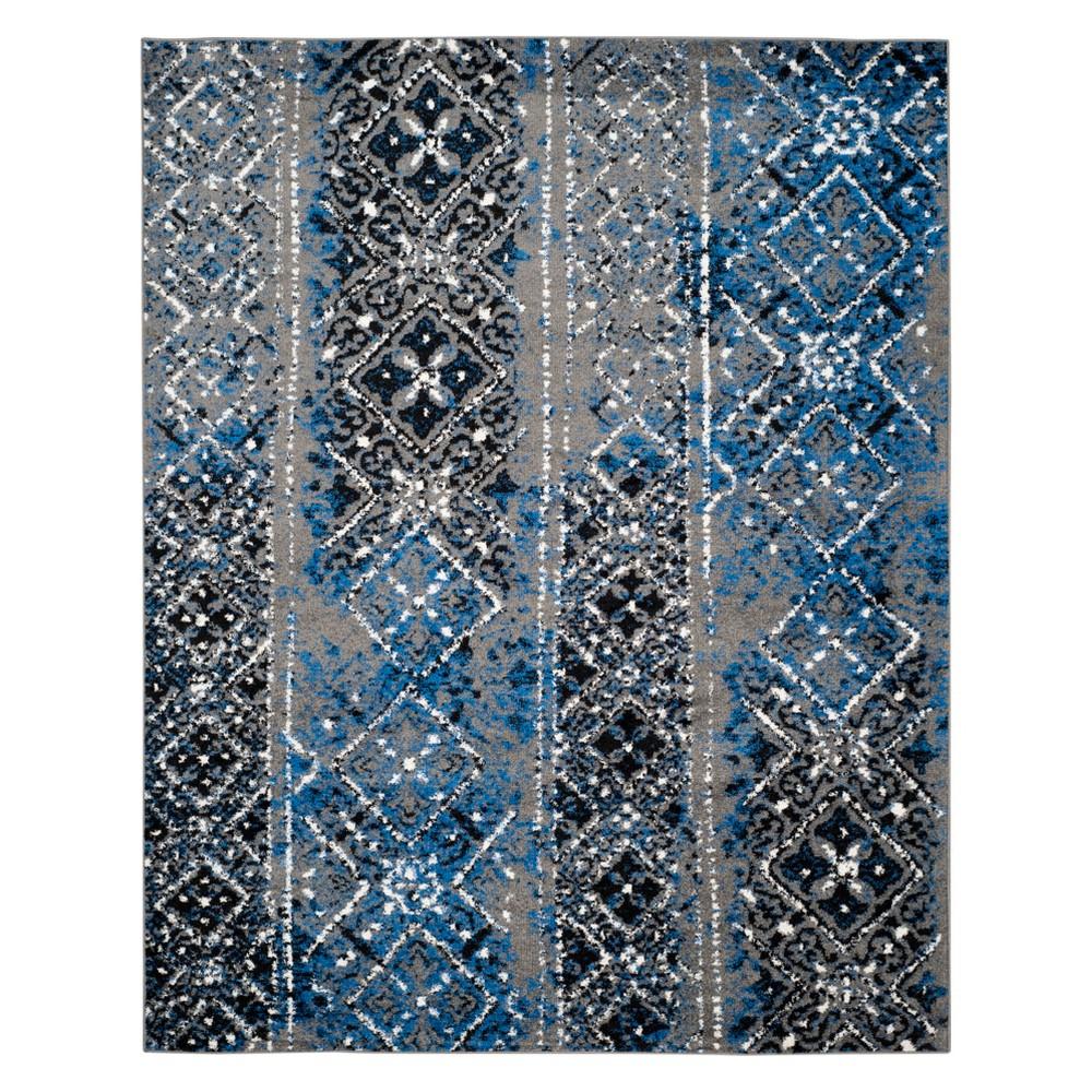 10'X14' Geometric Area Rug Silver - Safavieh, Silver/Multi-Colored