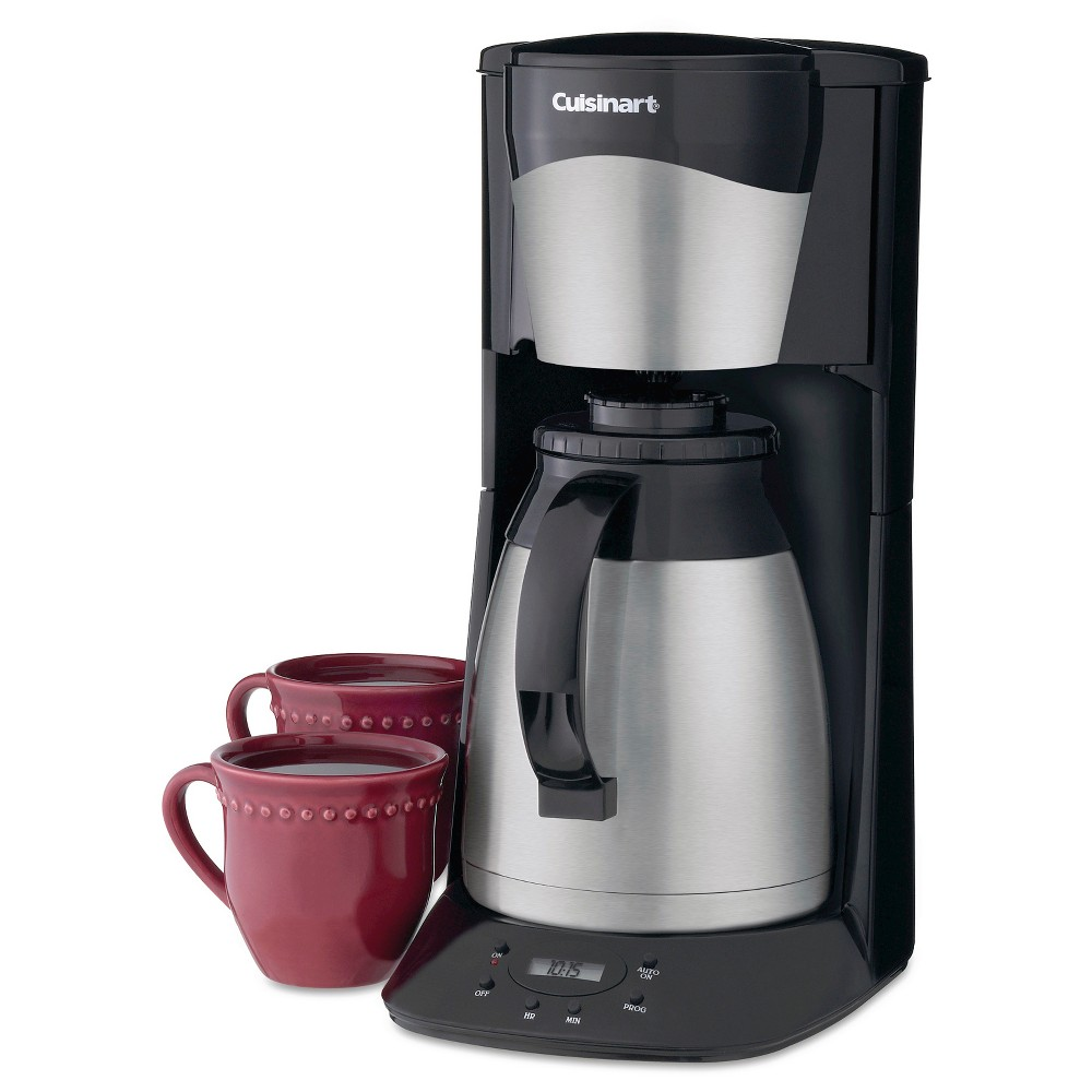 Image of Cuisinart 12 Cup Programmable Coffee Maker with Thermal Carafe - Black DTC-975BKN