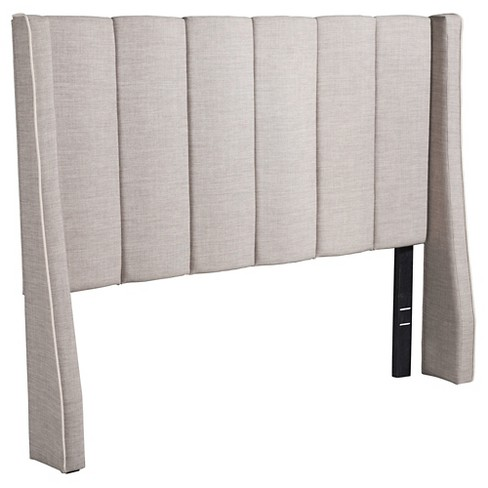 Tufted Upholstered Full Size Headboard Bed - Dove Gray - ZM Home - image 1 of 5