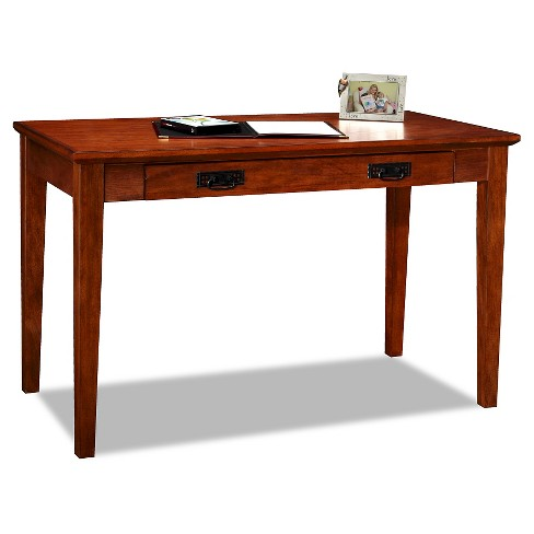 Fantastic Mission Laptop Writing Desk Oak Leick Home Gmtry Best Dining Table And Chair Ideas Images Gmtryco
