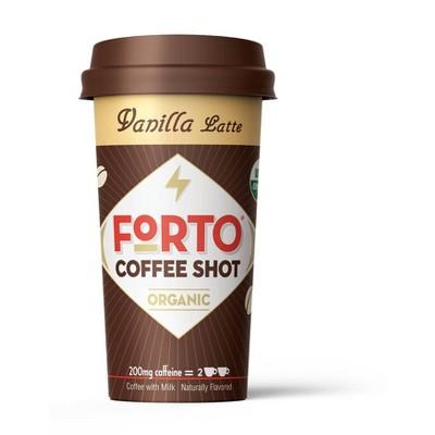 Forto Vanilla Latte 200mg Caffeine Shot - 2 fl oz Bottle