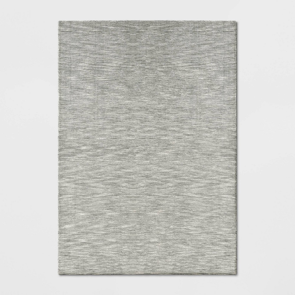 7'X10' Woven Tie Dye Design Area Rug Silver - Project 62