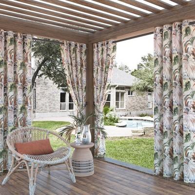 Fiji Botanical Print Indoor/Outdoor UV Protectant Grommet Top Room Darkening Curtain Panel - Sun Zero