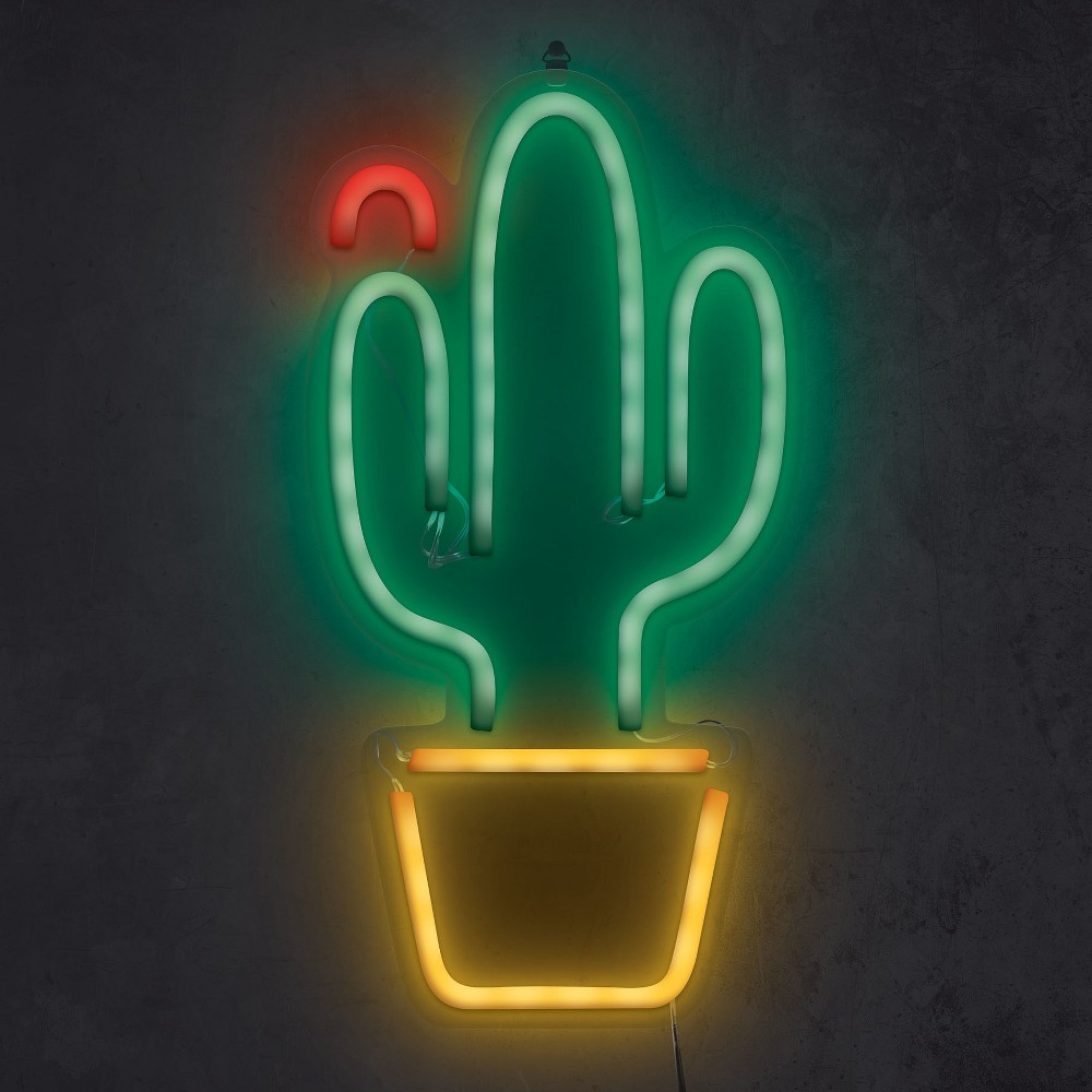 Cactus Flower 16 Neon Marquee Sign Led Lights Green - West & Arrow