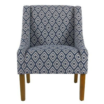 Modern Swoop Accent Chair Indigo - HomePop