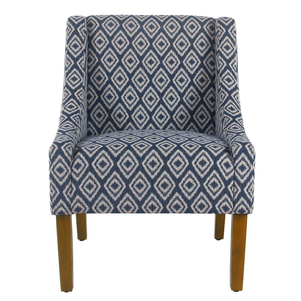 Modern Swoop Accent Chair Indigo - HomePop was $249.99 now $187.49 (25.0% off)
