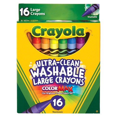 Crayola UltraClean Crayons Large Washable 16ct - image 1 of 3