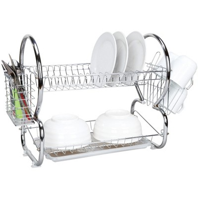 Home Basics 2-Tier Chrome Dish Drainer
