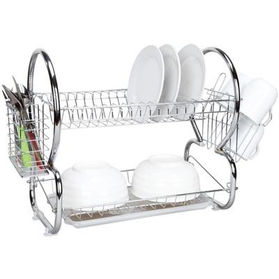 Home Basics 2-Tier Chrome Dish Drainer