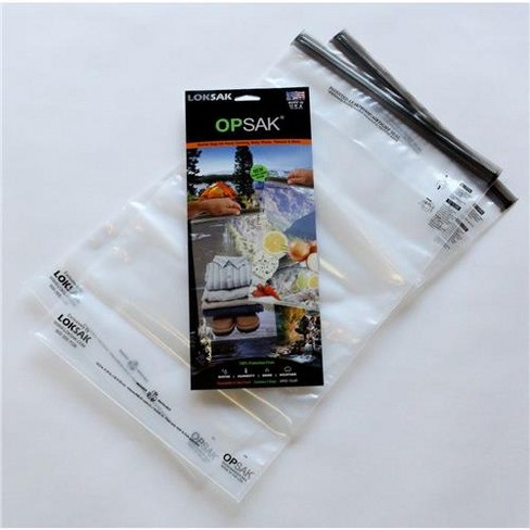 LokSak OPSAK 12x20  Resealable Storage Bag, Pack of 2, Clear - image 1 of 2