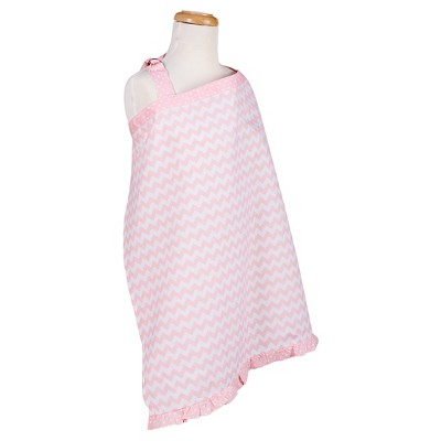 Trend Lab Pink Sky Chevron Nursing Cover - Pink